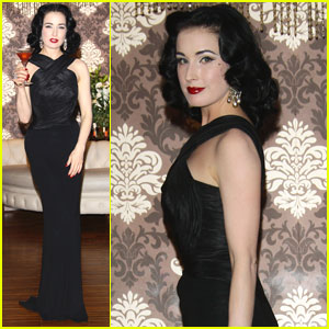 Dita Von Teese: Cointreau Launch in Milan!