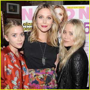 Elizabeth Olsen: 'Nylon' Dinner with Mary-Kate & Ashley!