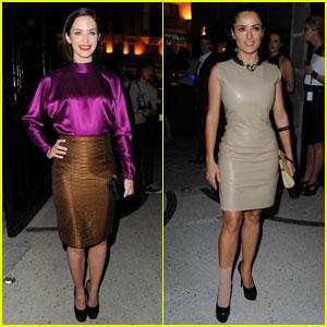 Emily Blunt & Salma Hayek: YSL Fashion Show!