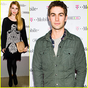 Emma Roberts & Chace Crawford: T-Mobile Launch Party!