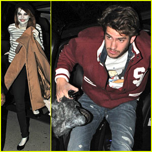 Emma Stone & Andrew Garfield: Halloween Party Pair!