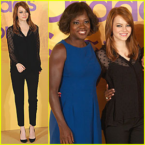 Emma Stone: 'Help' Photo Call in Madrid!
