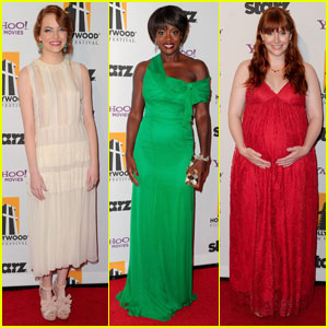 Emma Stone & Viola Davis - Hollywood Film Awards 2011