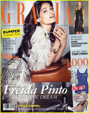 Freida Pinto Covers 'Grazia India' October 2011