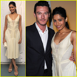 Freida Pinto: Calvin Klein Dinner with Luke Evans!