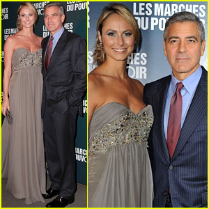 George Clooney & Stacy Keibler: Paris Premiere Pair!