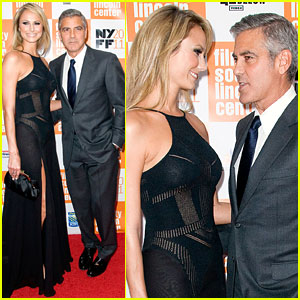 George Clooney & Stacy Keibler: Premiere Pair!