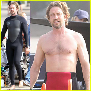 Gerard Butler: Shirtless for 'Of Men and Mavericks'
