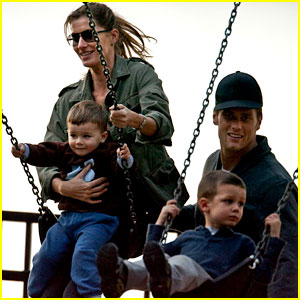 Gisele Bundchen & Tom Brady: Park Day with the Boys!