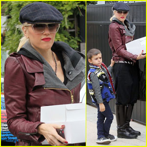 Gwen Stefani Visits Gwyneth Paltrow's House