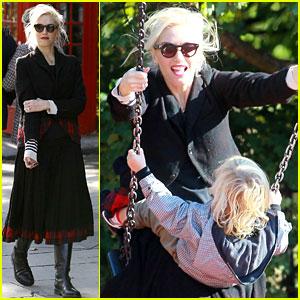 Gwen Stefani Swings with Kingston & Zuma