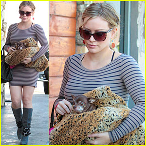 Hilary Duff Visits The Vet