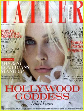 Isabel Lucas Covers 'Tatler' November 2011