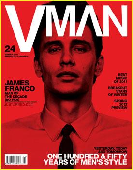 James Franco Covers 'Vman' Magazine