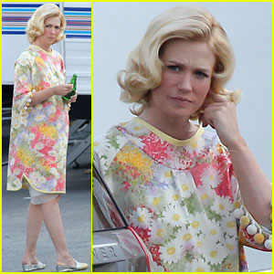 January Jones: Back to Work After Giving Birth!