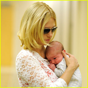 January Jones: Baby Xander's First Pictures!