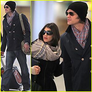 Jared Padalecki & Genevieve Cortese: Airport Arrival