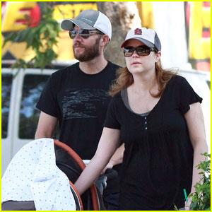 Jenna Fischer Walks With Weston