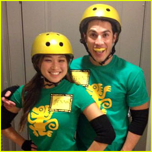 Jenna Ushkowitz & Michael Trevino: Green Monkeys for Halloween!