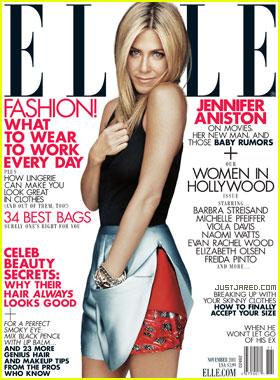Jennifer Aniston Covers 'Elle' November 2011