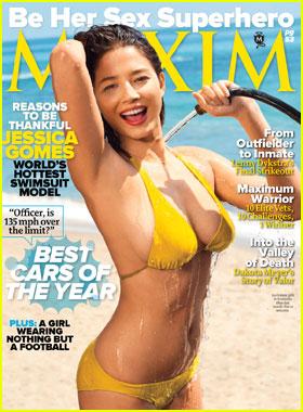 Jessica Gomes Covers 'Maxim' November 2011