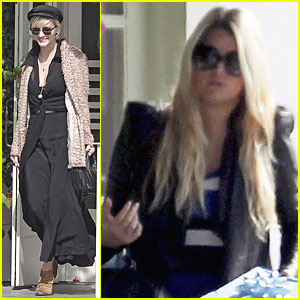 Jessica Simpson: Lunch with Mom & Ashlee!