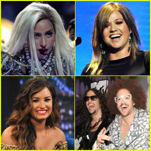 Lady Gaga & Kelly Clarkson: Z100 Jingle Ball Performers!