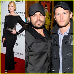 Alex Pettyfer &#038; Joely Richardson: 'Anonymous' Screening!