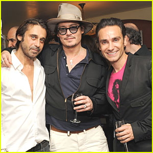 Johnny Depp: Chateau Marmont Private Reception!