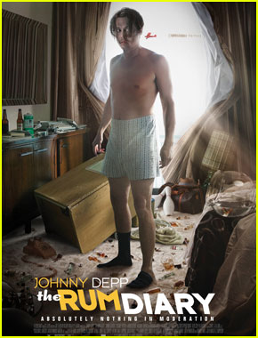 Johnny Depp: Shirtless in New 'Rum Diary' Poster!