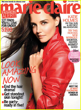 Katie Holmes Covers 'Marie Claire' November 2011