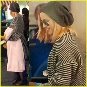 Katy Perry Debuts Blonde Hair at LAX!
