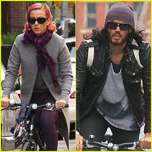 Katy Perry & Russell Brand: Occupy Wall Street Spectators!