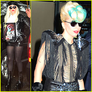 Lady Gaga Performs at Sting's Birthday Celebration