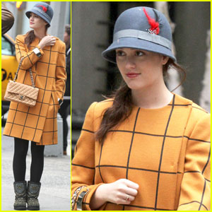 Leighton Meester: 'Gossip Girl' Wednesday Workday