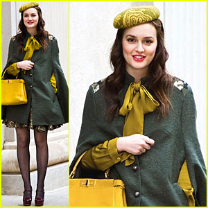 Leighton Meester Feels Lucky to Wear Gorgeous Clothes