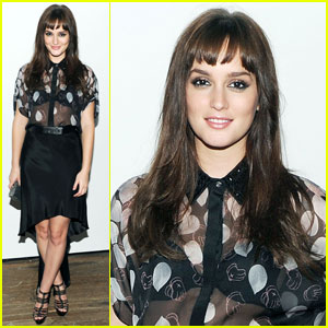 Leighton Meester: Jimmy Choo Icons Collection Dinner!