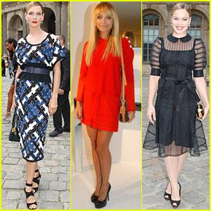 Uma Thurman & Abbie Cornish: Louis Vuitton at Paris Fashion Week!