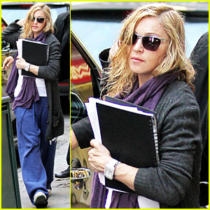 Madonna: Wet Haired Office Arrival