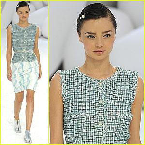 Miranda Kerr: Chanel Runway Model at Paris Fashion Week!