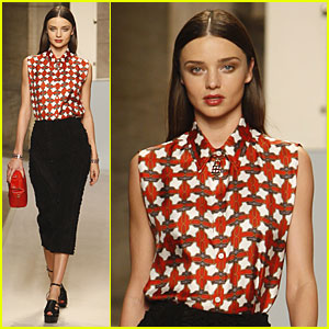 Miranda Kerr: Loewe Presentation at Paris Fashion Week!