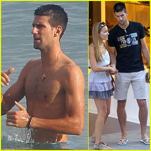 Novak Djokovic: Shirtless Monaco Man!
