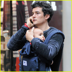 Orlando Bloom: Daddy Duty With Baby Flynn!
