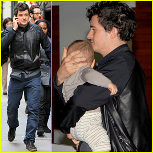 Orlando Bloom: On the Run with Baby Flynn!