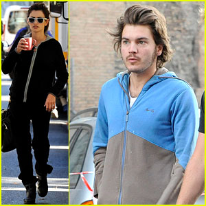 Penelope Cruz & Emile Hirsch: Early Morning Filming