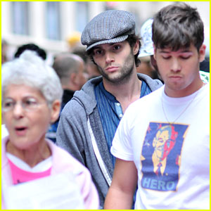 Penn Badgley Occupies Wall Street