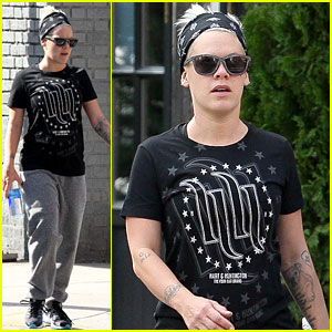 Pink Hits the Gym in NYC