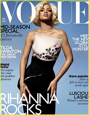 Rihanna Covers 'British Vogue' November 2011