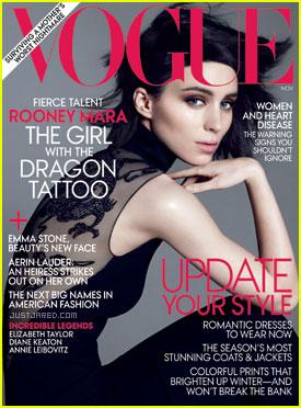 Rooney Mara Covers 'Vogue' November 2011