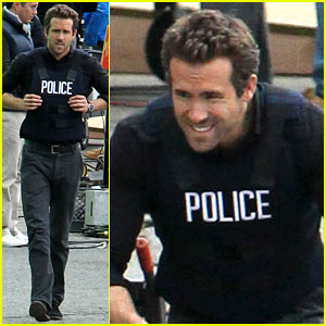 Ryan Reynolds: 'R.I.P.D.' Set with Kevin Bacon!
